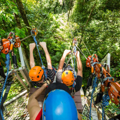 Getting Ready to Fly - Daintree Cape Tribulation Ziplining Tour