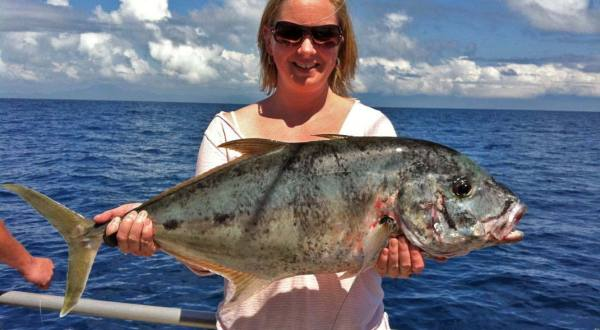 Full Day Private Reef Fishing From Port Douglas | Giant Trevally