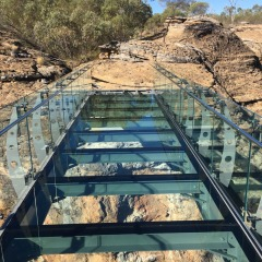 New Glass Bridge over the Cobbold Gorge