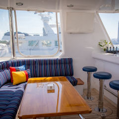 Gold Coast Private Charter Boat - Flybridge
