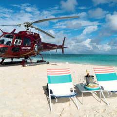 Gourmet Picnic on a Private Sand Cay Great Barrier Reef Private Charter Helicopter tour Cairns