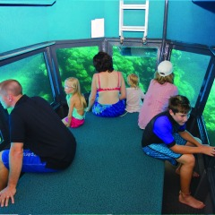 Semi-submersible submarine cruise on our Cairns Great Barrier Reef tour