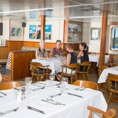 Great Barrier Reef Cruise boat dining room