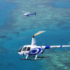 Great Barrier Reef Helicopter Flights | Solitary Sand Cays | Fly Cruise