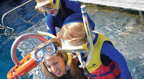 Great Barrier Reef pontoons are perfect for young children and families
