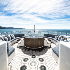 Great Barrier Reef Private Charter Boat | Relax in outdoor spa