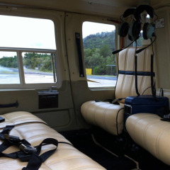 Great comfortable seating on your Great Barrier Reef Scenic Helicopter flight