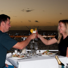 Great Dining Option On The Top Deck With Views To Reef