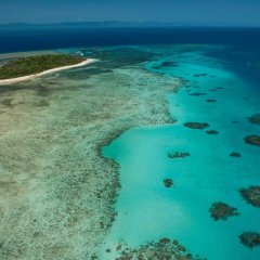 Aerial View from Helicopter over Green Island on a Day Tour
