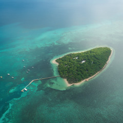 Green Island Seen from the Air - Great Barrier Reef Helicopter Tour Cairns