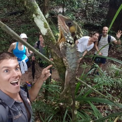 Group photo in the Daintree Rainforest on our nature tour