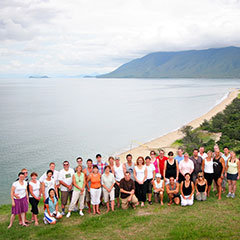Group photograph Rex Lookout Great Barrier Reef Drive