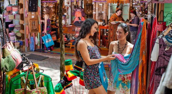 Groups love to wander the Kuranda Markets