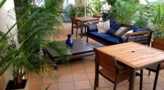 Guest BBQ Facilities & Lounge Area set in Tropical Gardens
