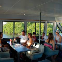 Guests enjoying Trinity lnIet private charter cruise
