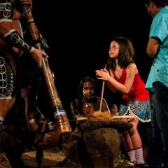 Guests Joining In with Aboriginal Cultural Show