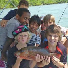 Half day family fishing tours in Cairns