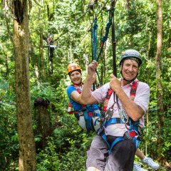 Happy Friends Enjoying Their Zipline - Daintree Cape Tribulation Ziplining Tour