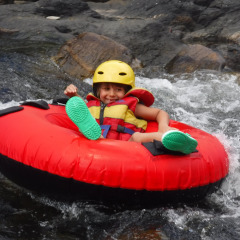 Behana Gorge Having fun in the rapids | Cairns River Tubing Tour