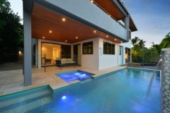 Private Swimming Pool at Dusk in your private Holiday Home - Villa 3 Port Douglas