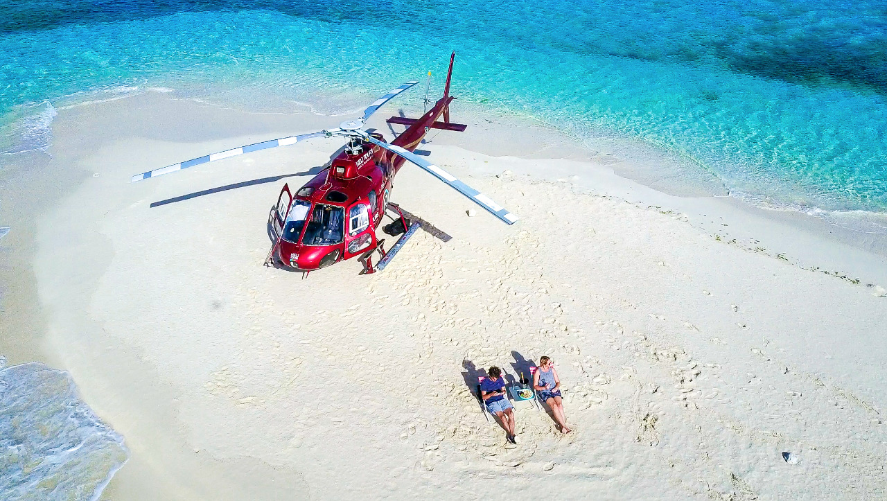 Image result for helicopter picnic great barrier reef