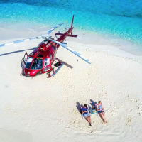Private Charter Helicopter Flight Cairns | Great Barrier Reef Sand Cay