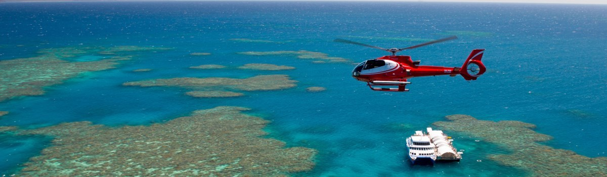 Helicopter Flight & Great Barrier Reef Pontoon Packages From Cairns