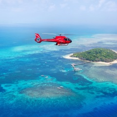 Helicopter Flight Over Green Island and the Great Barrier Reef