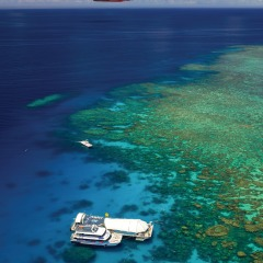Helicopter Flight Over The Great Barrier Reef