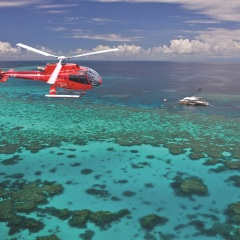 Helicopter Flight To A Great Barrier Reef Pontoon | Ex Port Douglas