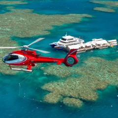 Helicopter Flight To And From The Sunlover Platform | Fly To The Outer Barrier Reef