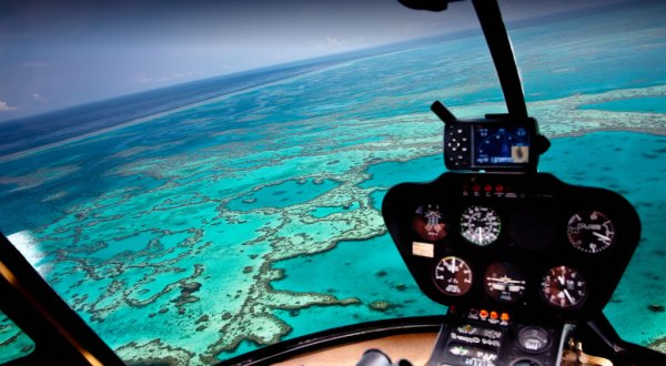 Helicopter flights Cairns and the Great Barrier Reef