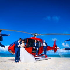 Helicopter Flights to a Sand Cay From Port Douglas - Wedding Nuptials
