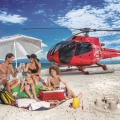 Helicopter Flights to a Sand Cay From Port Douglas