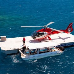 Helicopter fly and cruise combo deal - boat and helicopter transfer onthe Great Barrier Reef