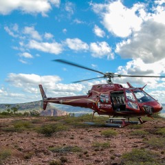 Helicopter in the outback