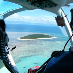 Helicopter Scenic Flights over Great Barrier Reef in Cairns - Green Island