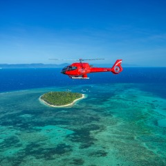 Helicopter with View of Green Island