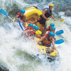 Hold on for the White Water Rafting Ride in the Barron River
