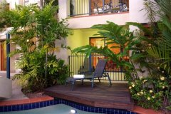 Swim up Pool Deck options available in Superior & Honeymoon Apartments - Meridian Apartments Port Douglas