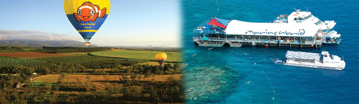 Cairns Hot Air Ballooning and Great Barrier Reef Tour Combo Deal