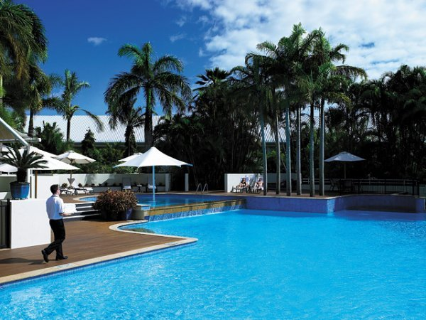 Hotel Pool and Surrounding Gardens - ShangriLa Hotel Cairns