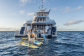 In-water toys included in private yacht charter