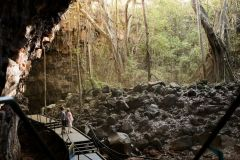 Internal view of Lava Tube at Undara National Park