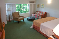 Internal view of standard accommodation at Port Douglas Resort