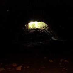 Internal view of Undara Lava Tubes