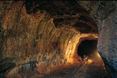 Internal view of Undarra Lava Tubes