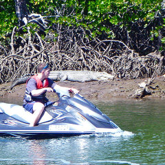 Great Barrier Reef Tour | Jet ski crocodile spotting tours Cairns Queensland Australia