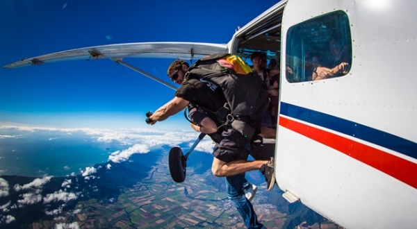 Jumping Out of the Plane - Cairns Skydive