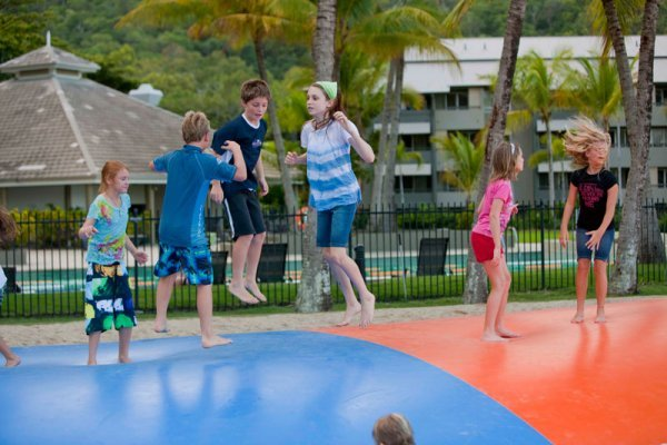 Jumping Pillow for the Kids at the Adventure Playground - Paradise Palms Resort | Cairns Family Resort Accommodation
